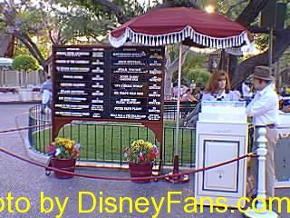 Disneyland ride wait times in 1996.