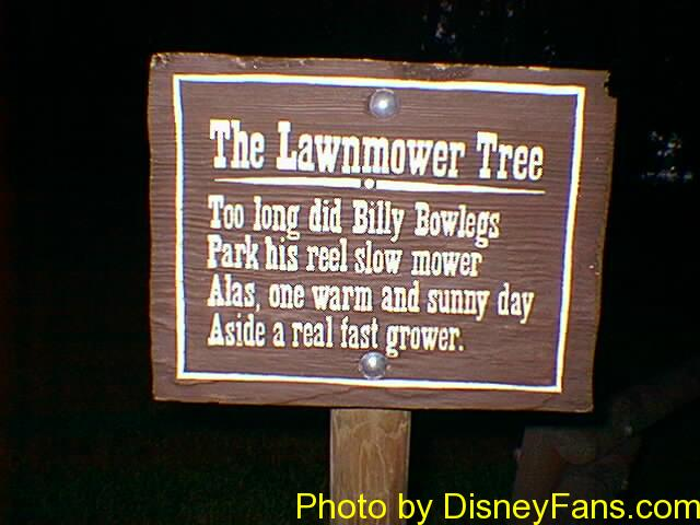 The Lawnmower Tree in 1996