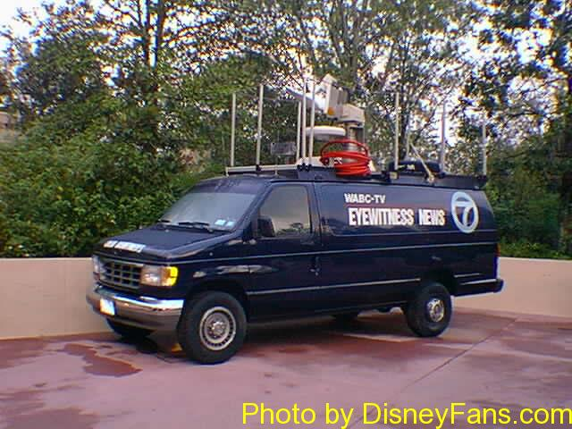 Channel 7 Eyewitness Newsvan and Countdown to Extinction in 1998.